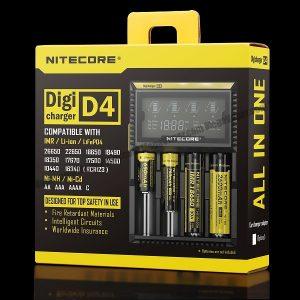 Nitecore D4 Digital Battery Charger for IMR Li-Ion-Ni-MH-Ni-Cd