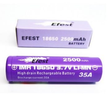 Efest 18650 35A 2500mAh Purple Battery