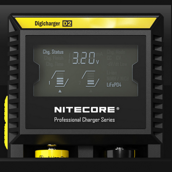Nitecore D2 2-Slot led screen