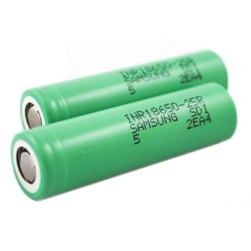 Samsung INR18650 25R battery 2500mAh 20a 3.6V Rechargeable 500