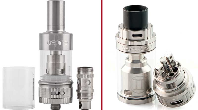 Clearomizer vs Rebuildable Tank RTA 800x445