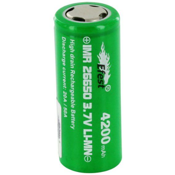 Efest IMR 26650 4200mAh 50A Green Flat Top Battery 676