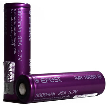 Efest imr purple Best 18650 Batteries for Vaping High Drain Sub Ohm 350