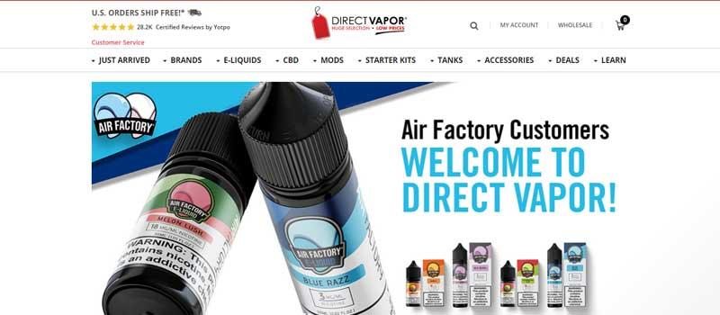 Direct Vapor Online Vape Shop in US 800x420